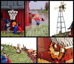 Batman vs. Superman (Details) (Xenomurphy) Tags: game basketball barn kent fight lego farm bricks superman batman blocks dccomics moc blocksmag
