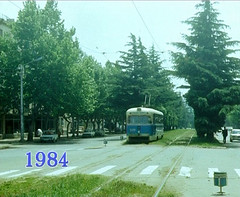 Georgia, Tbilisi Tramway in 1984 (Irakli Zhozhuashvili) Tags: road city railroad public car yard train georgia town outdoor trolley country transport 9 tram september transportation 1984 vehicle streetcar tramway joachim trolleys tbilisi strassenbahn bonde tramvay tranvia terminus trikk tramwaj eindpunt villamos elctrico tiflis sporvogn   tramwaje tramways georgien tbilissi tranvias elctricos strassenbahnen tramm kaddatz  endhaltestelle  tramvie sprvg strasenbahn  sporvei   strasenbahnen   tramvaiul raitioliikenne