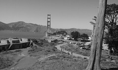 (sftrajan) Tags: sanfrancisco california bw puente goldengatebridge presidioofsanfrancisco 2016 thepresidio
