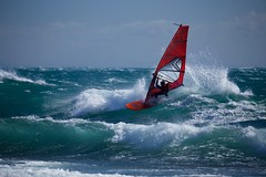 Wind&Surf (grandmich56) Tags: red sport rouge eau carro vague extrieur windsurf mditerrane 1ermai funboard ctebleue plancheavoile michelletertre