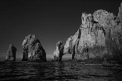 lands end (Andy Kennelly) Tags: california bw beach mexico rocks arch pacific lovers end baja lands