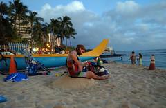 Kapiolani Beach in Waikiki (JonathanWolfson) Tags: waikiki surfboard waikikibeach