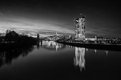 Frankfurt B/W (derChambre) Tags: skyline frankfurt mainhatten ecb ezb osthafenbrcke
