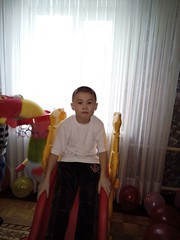 first visitor of Daryn center (COCAFoundation) Tags: kazakhstan coca autism astana