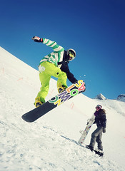 Jump (Saramanzinali) Tags: winter snow sport jump hiver neve snowboard salto neige inverno snowboarder cervinia