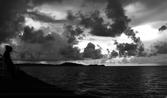 De vuelta a Ampana (Sacule) Tags: ocean travel sea sky blackandwhite monochrome silhouette clouds indonesia island boat mar sailing ship bn cielo silueta sulawesi nube togean archipielago togian ampana