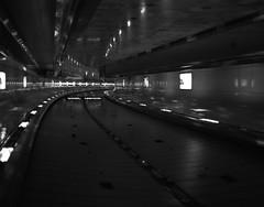 2011 - Seoul airport (mark-heuss) Tags: blackandwhite art architecture modern mediumformat key waves low perspective shapes highcontrast warp seoul flughafen schwarzweiss swell 75mm etrsi mittelformat ilford400 fluchtpunkt seoulairport zenzabronica markheuss
