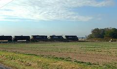 Indiana Northeastern westbound at Edon Ohio (Matt Ditton) Tags: railroad ohio train iner shortline edon