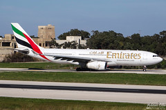 Emirates --- Airbus A330-200 --- A6-EAS (Drinu C) Tags: plane aircraft aviation sony emirates airbus dsc a330 mla a330200 a6eas lmml hx100v adrianciliaphotography