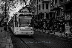 T1 Line... (Syahrel Azha Hashim) Tags: street travel light vacation bw holiday detail train 35mm turkey prime blackwhite dof publictransportation getaway sony streetphotography tram naturallight istanbul transportation handheld shallow simple a7ii sonya7 syahrel ilce7m2