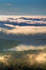 Through The Clouds || PENRITH LAKES || WESTERN SYDNEY (rhyspope) Tags: new cloud mist lake pope weather fog wales sunrise view south lakes australia lookout vista aussie nepean rhys hawkesbury rhyspope