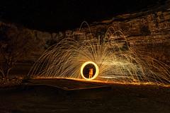Steel Wool (Wajahat Mahmood) Tags: longexposure lightpainting night stars middleeast saudiarabia steelwool   nikond810 googlenik huraiymila