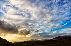 Dramatic skyscape (imagesbystefan.com) Tags: travel winter sunset wild cloud mountain storm mountains color green nature beautiful beauty rock clouds danger dark landscape iceland europe view natural wind background scenic stormy arctic skydramatic
