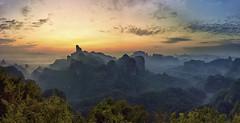 Landscape from Danxa Nount (Fabrizio Massetti) Tags: china sun sunrise mount cina cambo shaoguan guandong phaseone danxa iq180 rodenstock28mm
