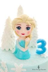 ELSA! (Little Cottage Cupcakes) Tags: birthday snowflake cake frozen disney birthdaycake caketopper sparkly elsa fondant frozencake sugarpaste girlcake littlecottagecupcakes elsacake