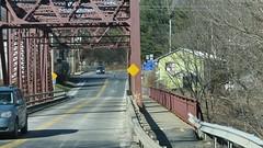 THE OLD BRIDGE IN HIGH FALLS (richie 59) Tags: road bridge trees winter usa ny newyork america creek outside us weeds highway unitedstates weekend sunday sidewalk newyorkstate 213 westbound nys nystate highfalls hudsonvalley oldbridge 2016 ulstercounty twolane highfallsny statehighway 2lane midhudsonvalley trussbridge midhudson ulstercountyny rondoutcreek 2010s rt213 route213 richie59 townofmarbletownny townofmarbletown jan2016 jan242016
