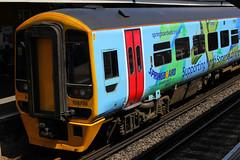 158798, Fratton, May 12th 2015 (Southsea_Matt) Tags: station train railway firstgreatwestern fratton sprinter portsmouthharbour dmu cardiffcentral class158 158798 springboardopportunitygroup