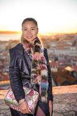 Sunset (marcus_the_1) Tags: city sunset colour portugal girl backlight nikon lisboa flash d610   castilo