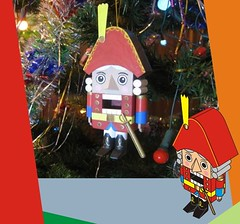 Nutcracker Free Paper Toy Download (PapercraftSquare) Tags: decoration nutcracker