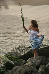 Dia de Iemanj - Yemanj Day (adelaidephotos) Tags: sea brazil woman praia beach rio brasil riodejaneiro mar dusk mulher religion praying offering mythology worshipper anoitecer religio orao iemanj yoruba orisha mitologia umbanda prece yemanja praiadoleme orix oferenda yemoja devota yemany diadeiemanj lemebeach mariaadelaidesilva yemanjday