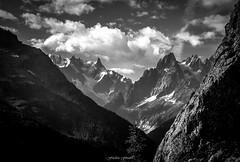 Apparition Matinale (Frdric Fossard) Tags: montagne alpes lumire ombre glacier ciel contraste nuage chamonix rocher fort sapin hautesavoie conifre luminosit massifdumontblanc flancdemontagne clatr