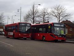Arriva Kent Thameside ENL10 and ENR1 standing in Bexleyheath (GloriousWater) Tags: route b15 b12 lj58avt lk65eko