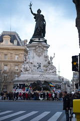 (Nalichia) Tags: street paris architecture death sadness memorial mort pray rue république tristesse gather attentat prière rassemblement