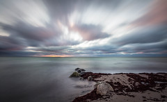 Long Expo (J. Pelz) Tags: ocean longexposure sunset blur beach nature canon gotland 10stop