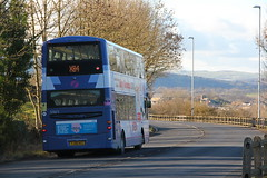 First X84 37671 YJ58 RSZ 3rd February 2016 (2) (asdofdsa) Tags: travel bus coach outdoor yorkshire transport leeds passengers hills vehicle harrogate otley a660 firstleeds 3rdfebruary2016