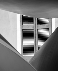 Unfinished Geometry (Neghinita2012) Tags: bw window geometry shutter nikkor18105 nikond7100