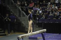 Allie Northey beam (7) (Susaluda) Tags: uw sports gold washington university purple huskies gymnastics dawgs