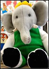 Heffalump (e r j k . a m e r j k a) Tags: toy whimsy library babar heffalump erjkprunczyk