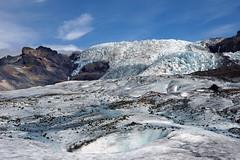 Falljkull glacier (marko.erman) Tags: sun ice beautiful tongue landscape iceland hiking sony sunny hike glacier crevasse vatnajkull falljkull