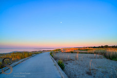 Early morning walk along the Silver Sands Boardwalk back in August (Singing With Light) Tags: summer moon sunrise photography pier fisherman sony kitlens ct august 2nd milford silversands bluemoon walnutbeach 2015 pointbeach mirrorless sony16mm28 singingwithlight singingwithlightphotography alpha6000 sonya6000