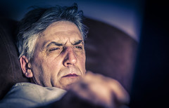 Laptop (clickclickphotographyuk) Tags: old light computer person eyes dad skin expression candid laptop ambient aging facial copyrightaaronjcollyer©2015
