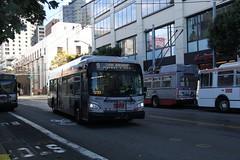 2013 New Flyer XDE40 #8623 & 2002-2003 ETI 15TrSF #7101 #7128 (busdude) Tags: new bus electric flyer san francisco trolley railway muni hybrid articulated municipal trolleybus skoda eti trolleycoach hev xde40 15trsf