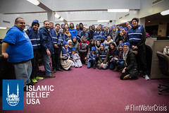 Islamic Relief USA had over 130 volunteers during one of their weekend distributions in Flint