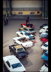 Aston Martin V8 Volante (1984) / Mercedes Benz 280 SL (1969) / Ford Mustang GT 350 (1966) / Citron SM Maserati (1971) / Austin Healey 3000 Mk.III Phase II (1965) (Laurent DUCHENE) Tags: austin mercedes benz martin sm citron sl 350 mustang gt 3000 v8 maserati aston healey volante 280 grandpalais mkiii 2016 bonhams phaseii