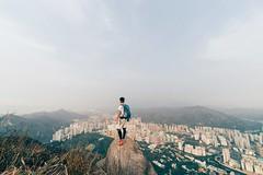 Solo Wing (bluuepanda) Tags: winter sky hk cloud mountain outdoors hongkong landscapes town asia day wind hiking sony hill peak hike mf fe ultrawide a7 newterritories castlepeak tuenmun 14mm lifehk samyang sonya7 flickrhk hikehk hongkonglandscapes flickrhkma hongkong2016 hklandscapes hkhikers