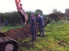 brian and helen digging (b4ruralnorth) Tags: yorkshire lancashire jfdi cumbria spades barnstormers heroines b4rn digitalbritain ladiesofgrit