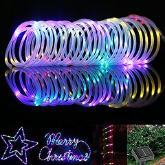 LE® 33ft Solar Rope Lights, Waterproof, Outdoor with Light Sensor, 100 LEDs, Red/Green/Blue/Warm White, Multi-color, Portable, for Christmas, Wedding, Party, Decorations, Gardens, Lawn, Patio (saidkam29) Tags: christmas wedding decorations light party white gardens lights solar portable outdoor lawn rope patio leds multicolor sensor waterproof 33ft le® redgreenbluewarm