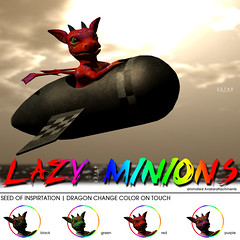 22769 for The Gacha Garden SOI - Lazy Minions (manuel ormidale) Tags: red black colorful dragon purple ballon attachment lazy rocket animated bauwerk gree paperplane minion gacha 22769 slmesh pacopooley 22769~bauwerk meshdecoration originalcreatormesh thegachagarden gachagame animatedattachment lazyminion