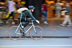 Melbourne Saturday (jeremyhughes) Tags: street city urban white motion speed cycling movement nikon cyclist melbourne d750 nikkor colnago panning whitebicycle whitebike 80200mmf28