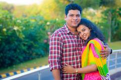 Rahul and Shweta [Stranger #95/100] (Vijay Britto Photography) Tags: smile 50mm nikon outdoor smiles naturallight romantic sari 100strangers d7000