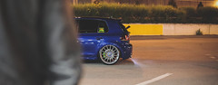 Volkswagen Night (Daniele Paderi) Tags: city blue light italy milan car night canon eos oz wheels engine motor rims motorsport petrolhead lowmbardy