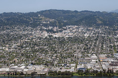 Aerial view of Berkeley and the University of California, Alameda County, California (cocoi_m) Tags: california berkeley aerial universityavenue alamedacounty aerialphotograph universityofcalifornia
