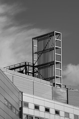 Great Britain - Liverpool - Ventilation Ducts (Robert Maroszek) Tags: greatbritain bw monochrome architecture clouds liverpool wb czb architektura chmury wielkabrytania pentaxk5iis smcpentaxda55300mmf4058ed robertmaroszek