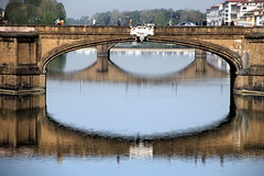 Florence Bridge (Alan1954) Tags: bridge two italy holiday reflections river florence europe 2016 platinumpeaceaward