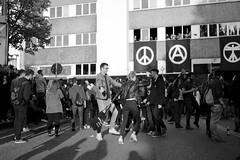 Dancin' (UEiserPhotography) Tags: light bw white black berlin 35mm canon kreuzberg germany fun dance fantastic dancing bokeh f14 sigma tor 35 1mai myfest schlesisches 70d