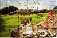 "Puzzle Book ""Big Cats"" (Leonisha) Tags: lion puzzle bigcats jigsawpuzzle lwe grosskatzen"